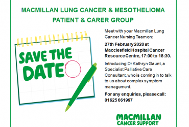 Macmillan Lung Cancer and Mesothelioma Patient and Carer Group